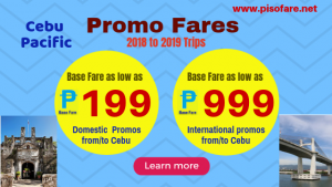 Cebu Pacific Promos 2018- 2019 as Low as P199 Base Fare on Sale