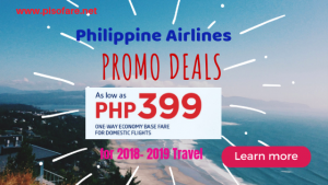 Philippine Airlines Seat Sale: As Low as P399 Domestic Base Fare Promo