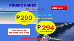 2019 Seat Sale: Promos as Low as P299 Base Fare