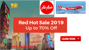 Air Asia Up to 70% Off on Flights Promo 2018- 2019