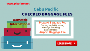 Cebu Pacific Prepaid & Airport Baggage Fees: Domestic and International