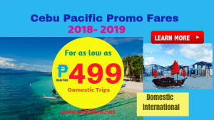 Cebu Pacific Promos Start at P499 Base Fare 2018-2019