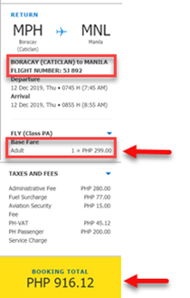 sale ticket bocacay to manila cebu pacific