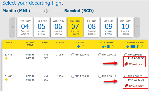 manila-to-bacolod-cebu-pacific-baggage-fee-promo