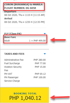 coron-to-manila-cebu-pacific-promo-fare