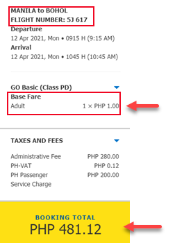 manila-to-bohol-P1-sale-ticket-2021