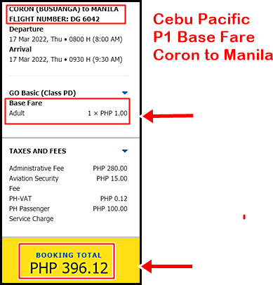 cebu-pacific-1-peso-sale-ticket-coron-to-manila